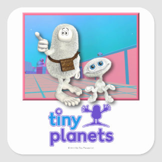 Tiny Planets - Planet of Stuff Square Sticker