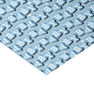 Tiny Polka Dots on Blue Background for Baby Tissue Paper
