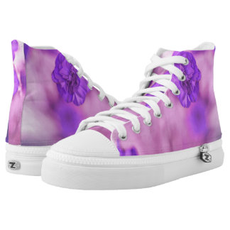 Tiny Purple Flower Printed Shoes