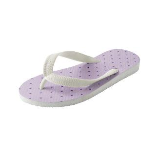 Tiny Purple Polka-Dots on Light Purple Kid's Thongs