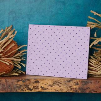 Tiny Purple Polka-Dots on Light Purple Plaque