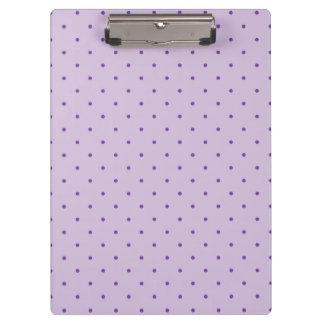 Tiny Purple Polka-Dots on Purple Clipboard