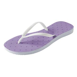 Tiny Purple Polka-Dots on Purple Thongs