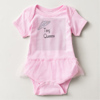 Tiny Queens tutu Baby Bodysuit