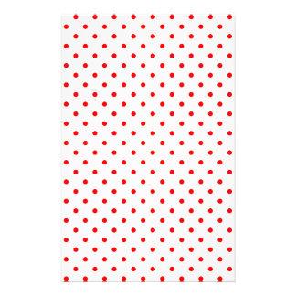 Tiny Red Polka Dots Stationery