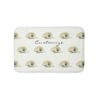 Tiny Retro Vintage campers Bath Mat