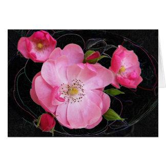 tiny rosebud opens card
