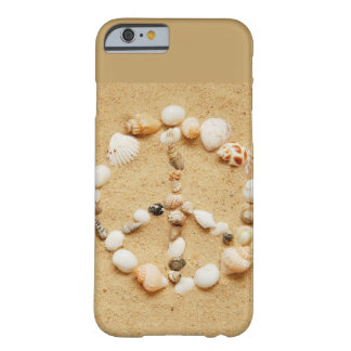 Tiny Seashell Peace Sign Barely There iPhone 6 Case