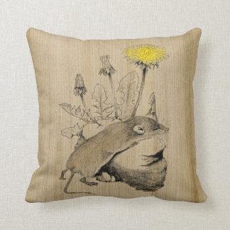 Tiny Shrew Beneath a Dandelion Cushion
