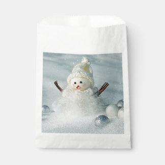 Tiny Snowman Favour Bag