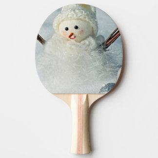 Tiny Snowman Ping Pong Paddle