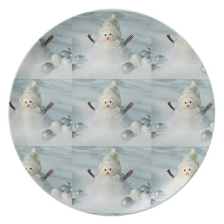 Tiny Snowman Plate