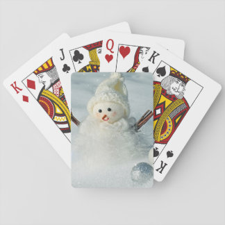 Tiny Snowman Playing Cards