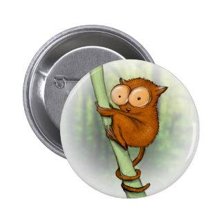 tiny tarsier 6 cm round badge