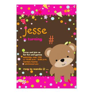 Tiny Teddy Bear/DIY background+text 13 Cm X 18 Cm Invitation Card
