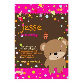 Tiny Teddy Bear DIY background+text Custom Announcement