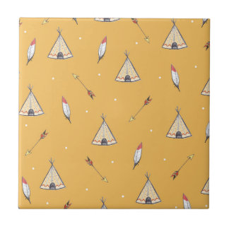Tiny Teepees Small Square Tile