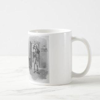 Tiny Tim and Bob Cratchit. Basic White Mug