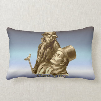 Tiny Tim and Bob Cratchit from A Christmas Carol Throw Pillow