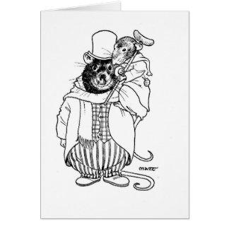 Tiny Tim & Bob Cratchett Greeting Card