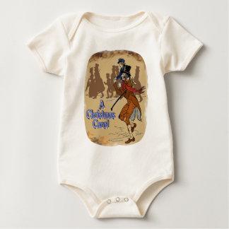 Tiny Tim on Bob Crachit's shoulder Baby Bodysuit