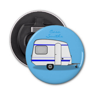 Tiny trailer gypsy caravan Thunder_Cove any color Bottle Opener