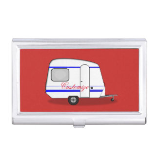 Tiny trailer gypsy caravan Thunder_Cove any color Business Card Holder