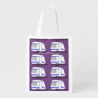 Tiny trailer gypsy caravan Thunder_Cove Reusable Grocery Bag