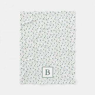 Tiny Trees | Holiday Monogram Fleece Blanket