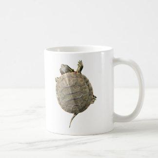 Tiny Turtle Crawling Up Side of Mug
