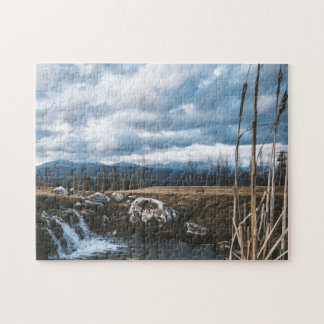 Tiny Waterfalls and Rushes Jigsaw Jigsaw Puzzle