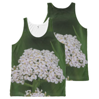 Tiny White Wildflowers All-Over Print Tank Top