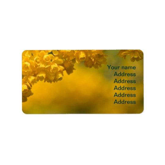 Tiny Yellow Flowers Label