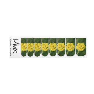 Tiny Yellow Wildflowers Minx Nail Art