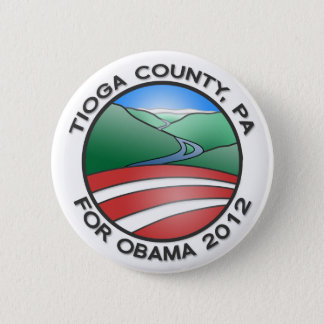 "Tioga County PA for Obama 2012 Canyon 2.25"" Button"