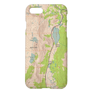 Tioga Pass, California Topographic Map iPhone 7 Case