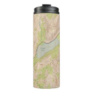 Tioga Pass, California Topographic Map Thermal Tumbler