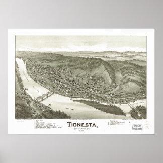 Tionesta Pennsylvania 1896 Antique Panoramic Map Poster