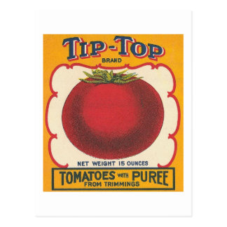 Tip-Top Tomatoes Vintage Label Postcard