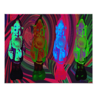 Tip Trippin' Gnomes Print by Violet Tantrum