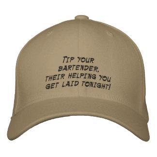 Tip your bartender embroidered hat