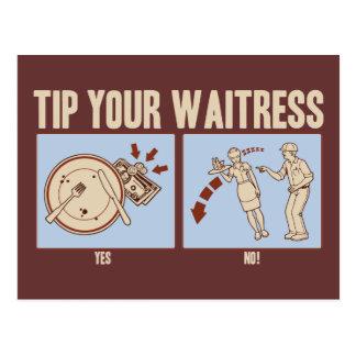 Tip Your Waitress Postcard