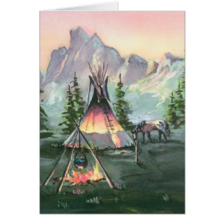 TIPI FIRE by SHARON SHARPE Card