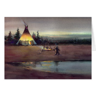 TIPI LIGHTS by SHARON SHARPE Card