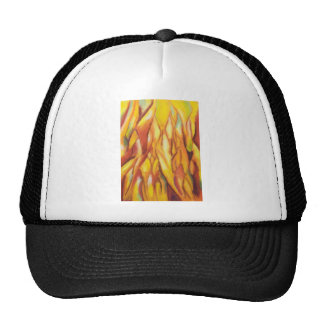 Tipped Flames (abstract expressionism) Cap