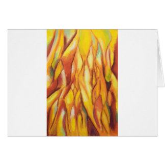 Tipped Flames (abstract expressionism) Greeting Card