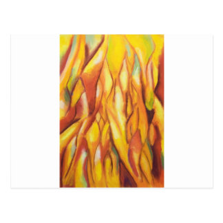 Tipped Flames (abstract expressionism) Postcard