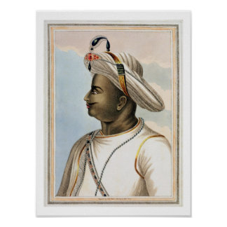 Tippoo Sultan (1749-99) plate from 'Picturesque Sc Poster