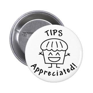 Tips-Appreciated (The Happy Muffin) 6 Cm Round Badge