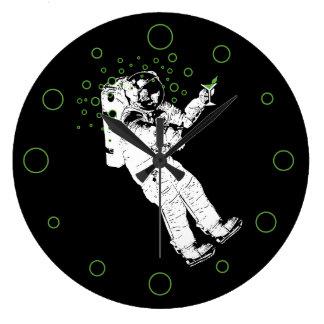Tipsy Astronaut Large Clock